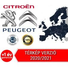 Peugeot/Citroen RT6 - SMEG Navigáció 2020/2021 Teljes Európa térképfrissítés USB adathordozó