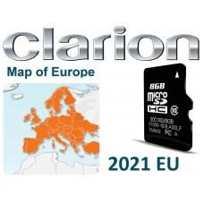 Clarion® Nx502e nx504e térkép frissítés SD kártya 2021 Teljes európa + Navigációs szoftver